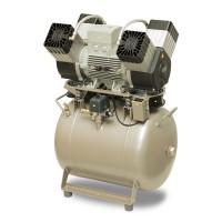 EKOM DK50 4VR/50 - безмасляный компрессор без шкафа, без осушителя, для четырех стоматологических установок (250 л/мин, 6 – 8 бар)