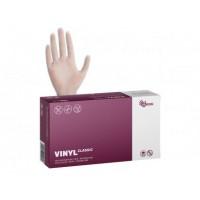 Перчатки виниловые неопудренные белые (100 шт)