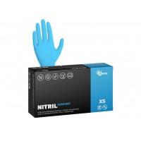 Перчатки нитриловые неопудренные голубые (100 шт)