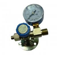 Вентиль медицинский с манометром на вход (клапан запорный К-1101-16)
