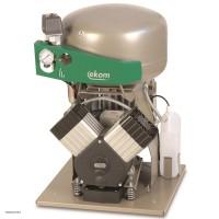 EKOM DK50 2V - безмасляный компрессор без шкафа, без осушителя, для двух стоматологических установок (140 л/мин, 5 – 7 бар)