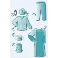 Комплект одежды врача-инфекциониста № 8 (для работы с больными, инфицированными ВИЧ, в закрытых помещениях)